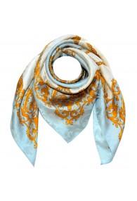 Tuch für Herren hellblau weiss gold Seide Floral LORENZO CANA