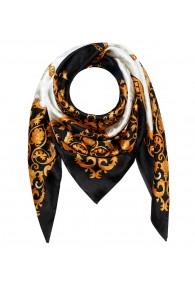Tuch für Herren weiss schwarz gold Seide Floral LORENZO CANA