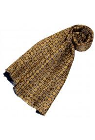 Wendeschal Seide + Wolle für Damen Gold LORENZO CANA