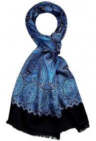 Herrenschal Paisley rot blau schwarz LORENZO CANA
