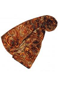 Damenschal Damen orange rot gelb Wolle Paisley LORENZO CANA