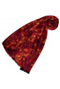 Damenschal Damen rot violett orange Wolle Paisley LORENZO CANA