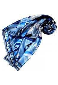Seidentuch Blau Paisley LORENZO CANA