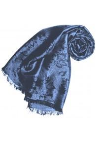 Blauer Schal für Damen Paisley LORENZO CANA
