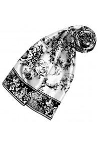 Schal aus Seide weiß floral LORENZO CANA