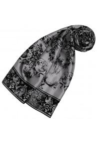 Grauer Schal aus Seide Floral LORENZO CANA