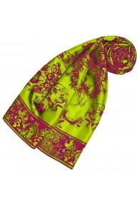 Schal aus Seide grün floral LORENZO CANA
