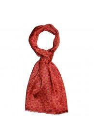 XL Schal für Damen Seide Rot Punkte LORENZO CANA