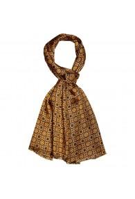 XL Schal für Damen Seide Gold Punkte LORENZO CANA