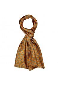 XL Schal für Damen Seide Blau Punkte LORENZO CANA