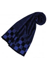 Blauer schal aus Seide für Damen LORENZO CANA