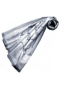XXL Schal für Frauen Grau Baumwolle LORENZO CANA