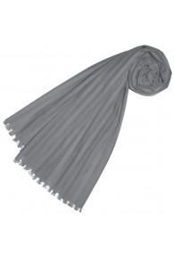 Halstuch für Frauen grau Baumwolle LORENZO CANA