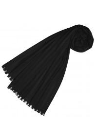 Halstuch für Frauen schwarz Baumwolle LORENZO CANA