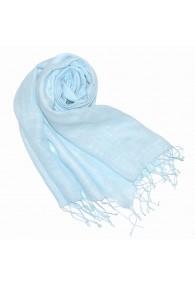 Damenschal 100% Leinen Unifarben babyblau himmelblau LORENZO CANA
