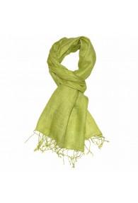 Herrenschal 100% Leinen Unifarben grasgrün hellgrün LORENZO CANA
