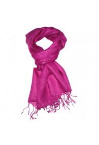 Herrenschal 100% Leinen Unifarben pink rosa LORENZO CANA