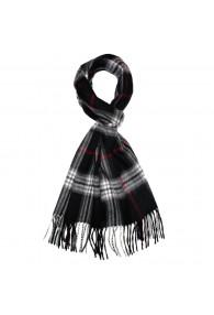 Schal für Herren Polyacryl schwarz weiss rot LORENZO CANA