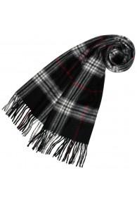 Schal für Damen Polyacryl schwarz weiss rot LORENZO CANA