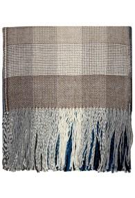 Wohndecke 100% Alpaka Fair Trade Blau Braun Karo LORENZO CANA