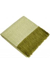 Sofadecke 100% Alpaka Grün Weiß LORENZO CANA