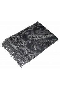 Wolldecke schwarz grau weiß LORENZO CANA