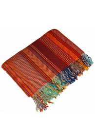 Wolldecke orange braun blau LORENZO CANA
