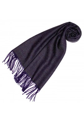 Damenschal 100% Baby Alpaka Raute violett dunkelviolett LORENZO CANA