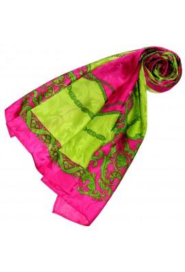 Tuch für Damen rosa beere grün Seide Floral LORENZO CANA