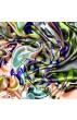 Tuch für Herren türkis orange grau grün Seide Floral LORENZO CANA